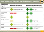 los does not capture environmental impacts5