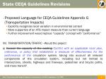 state ceqa guidelines revisions