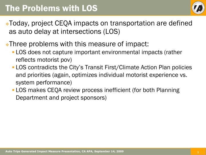 The problems with los