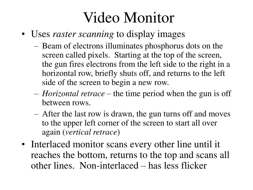 video monitor l.