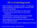 ad is underdiagnosed