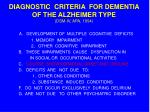 diagnostic criteria for dementia of the alzheimer type dsm iv apa 1994