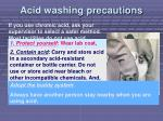 acid washing precautions