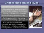 choose the correct gloves