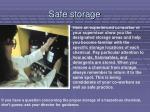 safe storage