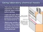 using laboratory chemical hoods