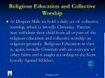 religious education and collective worship