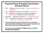 proposed phase iii gasoline specification emission effects