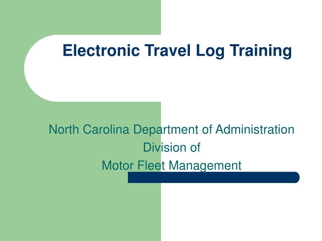 electronic travel log training l.