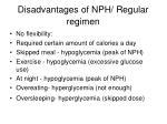 disadvantages of nph regular regimen