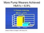 more pump wearers achieved hba1c 6 9