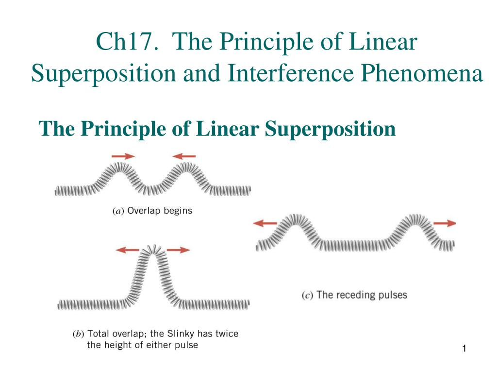 ch17 the principle of linear superposition and interference phenomena l.