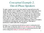 conceptual example 2 out of phase speakers