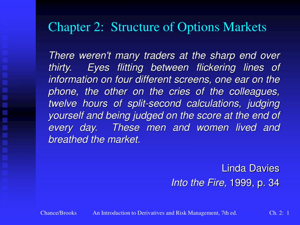 chapter 2 structure of options markets l.