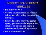 inspection of rental vehicles