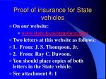 proof of insurance for state vehicles