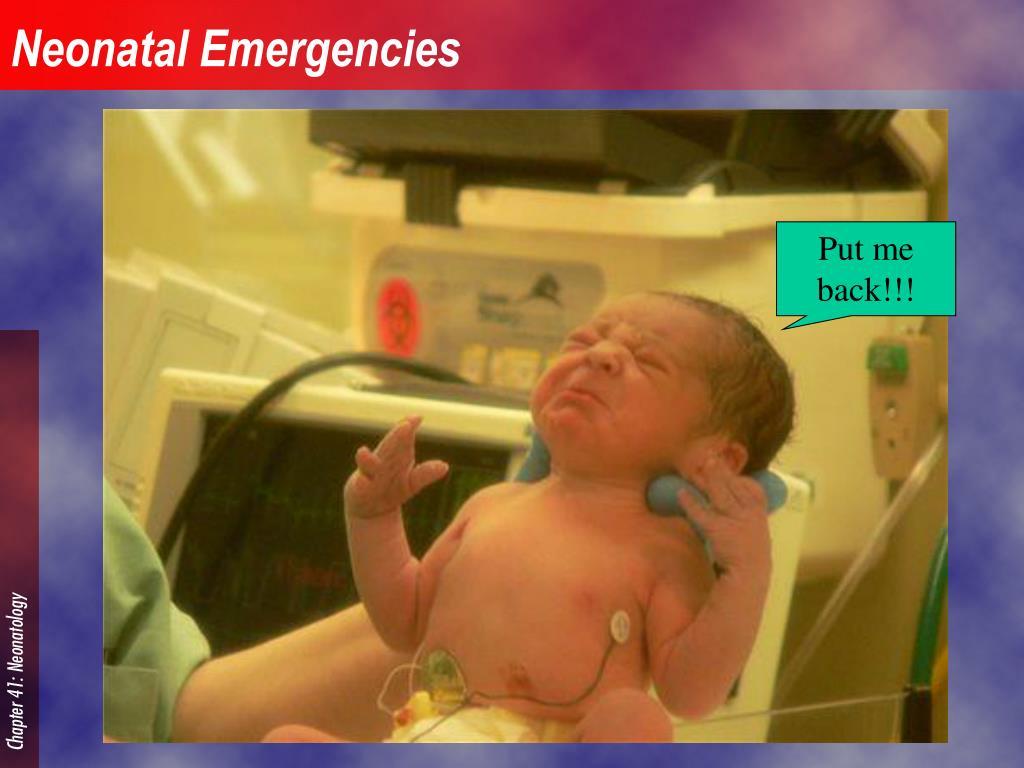 neonatal emergencies l.
