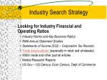 industry search strategy20