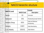 naics hierarchic structure