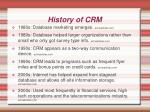 history of crm