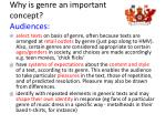 why is genre an important concept audiences