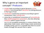 why is genre an important concept producers