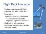flight deck interaction