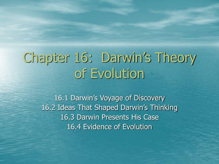 chapter 16 darwin s theory of evolution n.