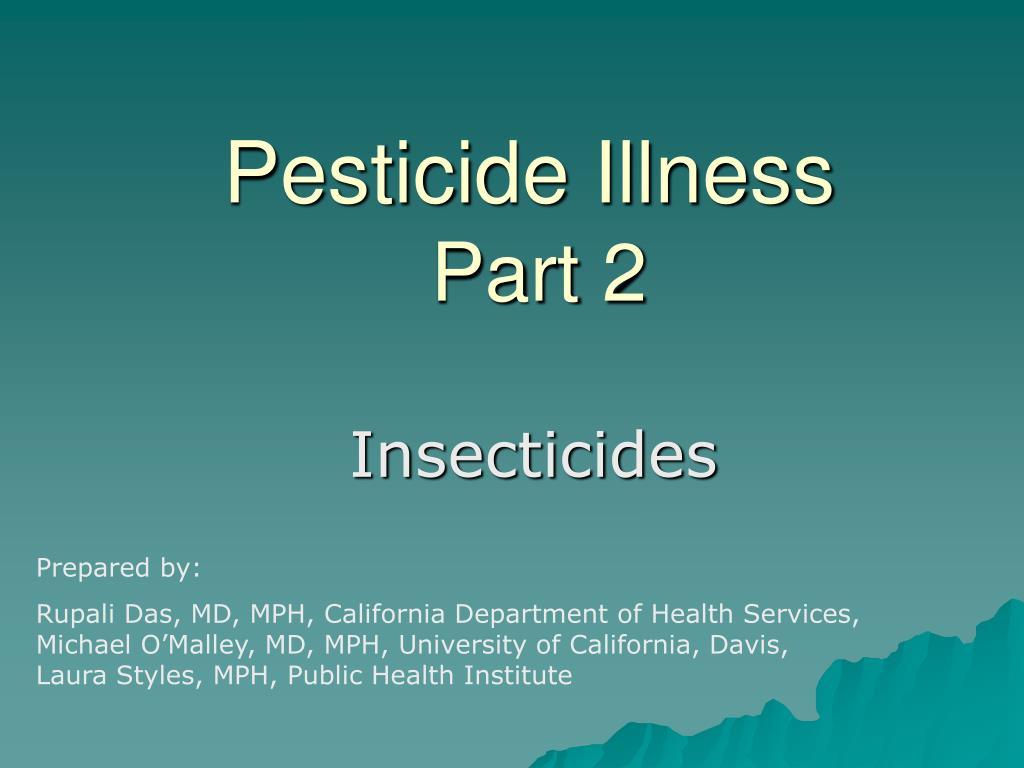 pesticide illness part 2 l.