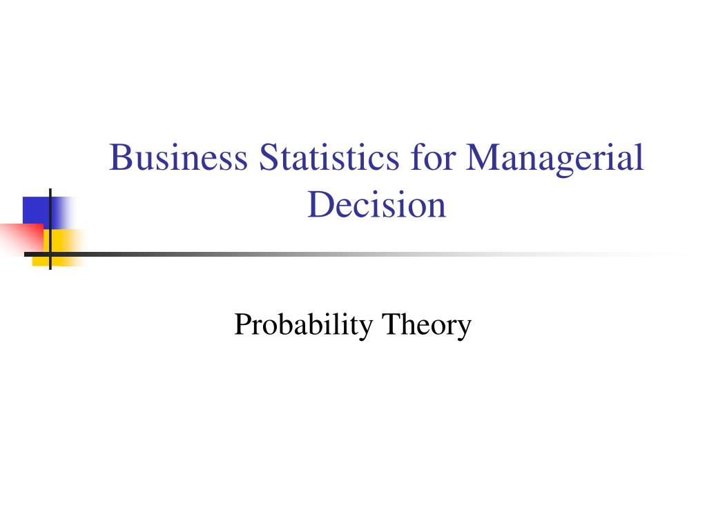 business statistics for managerial decision l.