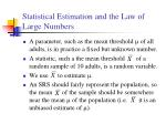 statistical estimation and the law of large numbers