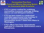 communities that care a tested and effective operating system for community wide prevention