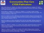 communities that care cyds publications