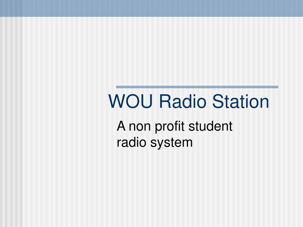 wou radio station l.