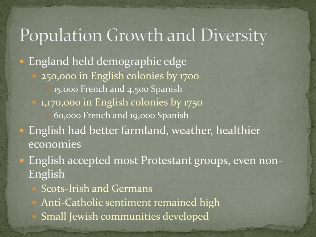 Population Growth and Diversity