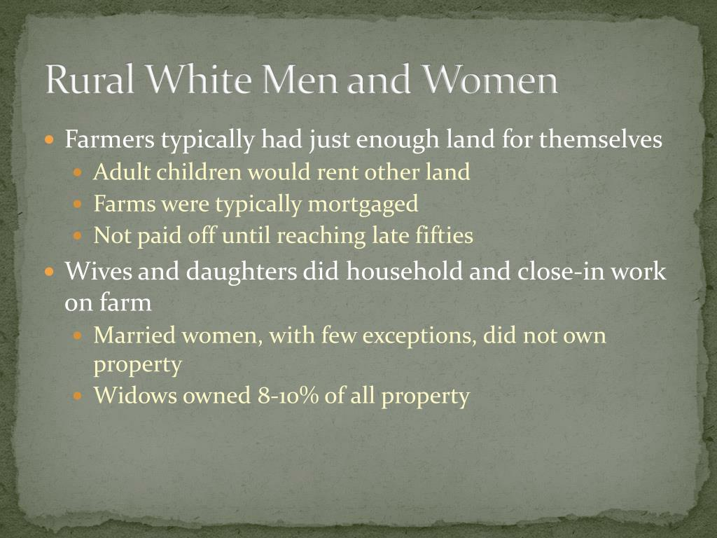 Rural White Men and Women