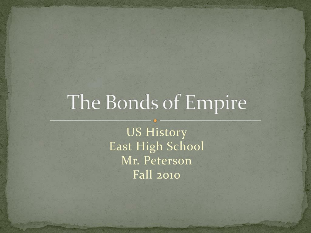 the bonds of empire l.