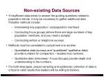 non existing data sources