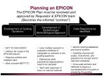 planning an epicon