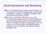 facial expressions and rendering25