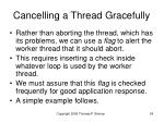 cancelling a thread gracefully