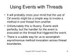 using events with threads