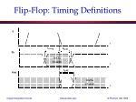flip flop timing definitions