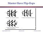 master slave flip flops