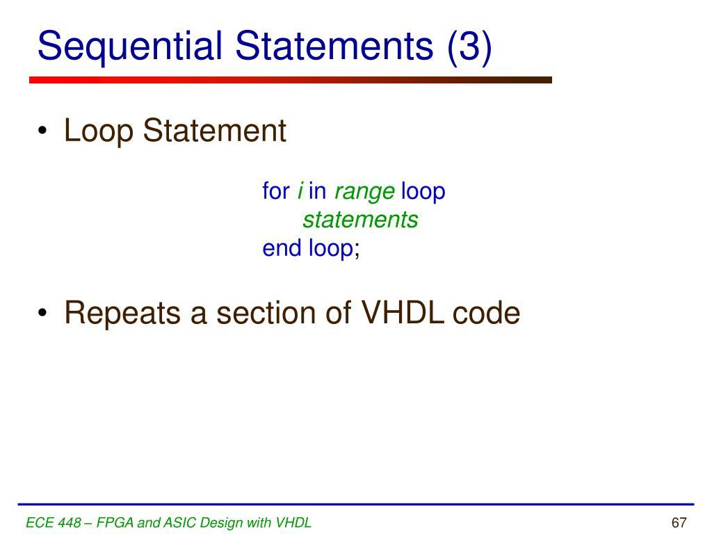 Sequential Statements (3)