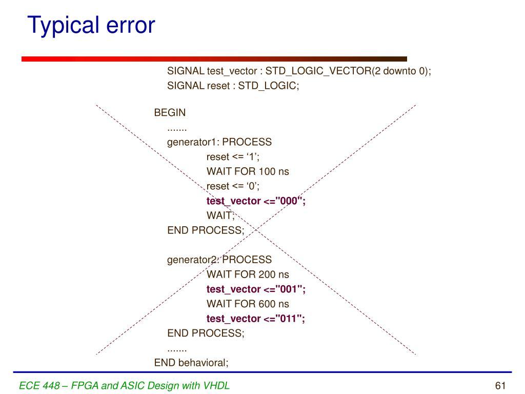Typical error
