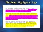 the pearl highlighted page