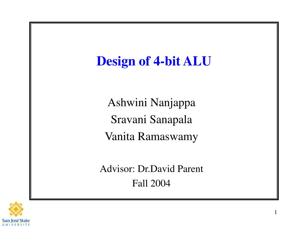 design of 4 bit alu l.