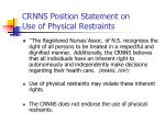 crnns position statement on use of physical restraints