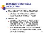 establishing media objectives